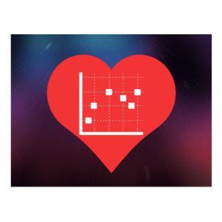 Símbolo de los gráficos del trazado postales