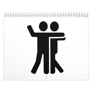 Símbolo de los pares del baile calendarios de pared