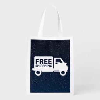 Símbolo de los pases gratises bolsa reutilizable