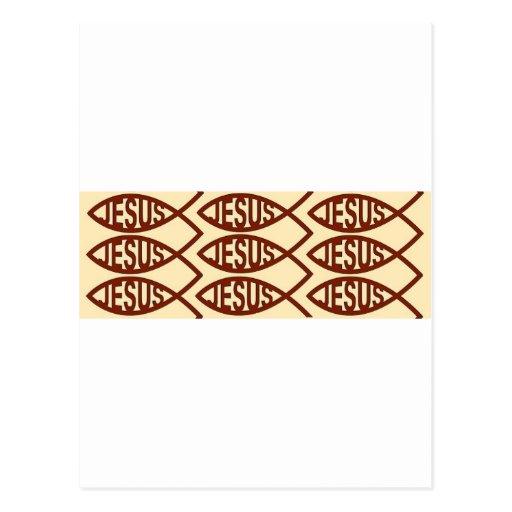 Símbolo de los pescados de Jesús Tarjetas Postales