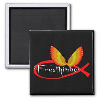 Símbolo de los pescados del Freethinking Imán Para Frigorifico