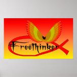 Símbolo de los pescados del Freethinking Poster