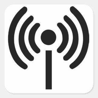 Símbolo de los Wi Fi Pegatina Cuadrada