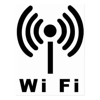 Símbolo de los Wi Fi Tarjetas Postales
