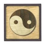 Símbolo de madera de Yin Yang Caja De Joyas De Calidad