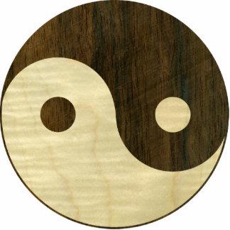 Símbolo de madera de Yin Yang Llavero Fotográfico