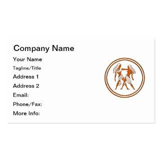 Símbolo de madera tallado del zodiaco de los tarjeta personal