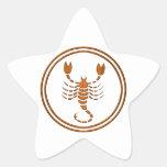 Símbolo de madera tallado del zodiaco del calcomanías forma de estrellas personalizadas