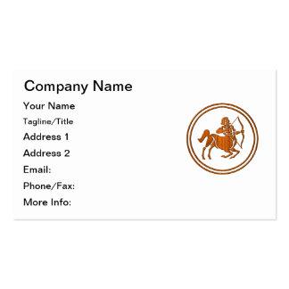 Símbolo de madera tallado del zodiaco del tarjetas de negocios