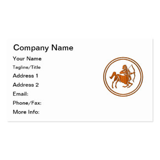 Símbolo de madera tallado del zodiaco del tarjetas de visita