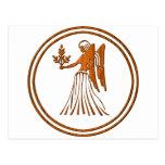 Símbolo de madera tallado del zodiaco del virgo postal
