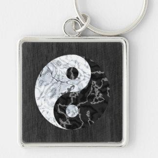 Símbolo de mármol de Yin Yang Llavero Personalizado