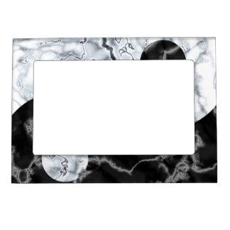 Símbolo de mármol de Yin Yang Marcos Magnéticos Para Fotos
