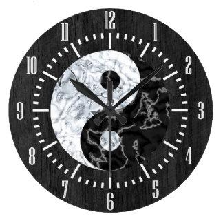 Símbolo de mármol de Yin Yang Relojes De Pared