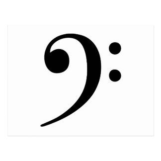 Símbolo de música del Clef bajo Postal