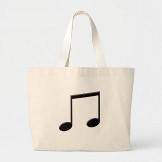 Símbolo de música emitido de la nota bolsa tela grande