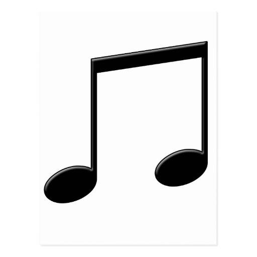 Símbolo de música emitido de la nota postal