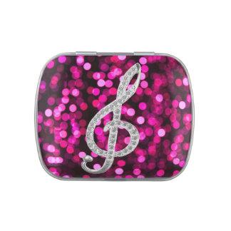 Símbolo de música latas de dulces