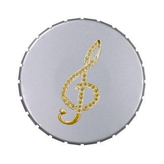 Símbolo de música jarrones de caramelos