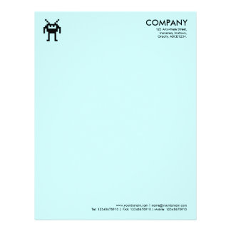 Símbolo de Nanobot - CCFFFF azul claro Membrete A Diseño