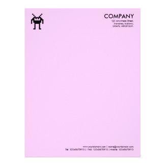 Símbolo de Nanobot - FFCCFF rosado Membrete Personalizado