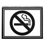 Símbolo de no fumadores calendario