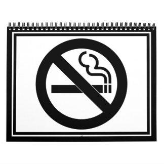 Símbolo de no fumadores calendario de pared