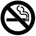 Símbolo de no fumadores esculturas fotográficas