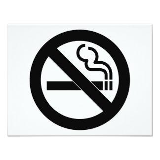 """Símbolo de no fumadores invitación 4.25"""" x 5.5"""""""