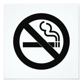 """Símbolo de no fumadores invitación 5.25"""" x 5.25"""""""