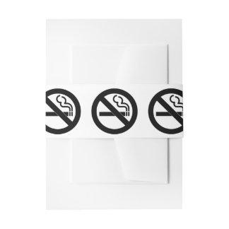 Símbolo de no fumadores lazos para invitaciones de boda