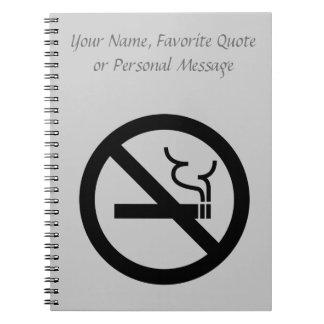 Símbolo de no fumadores cuadernos
