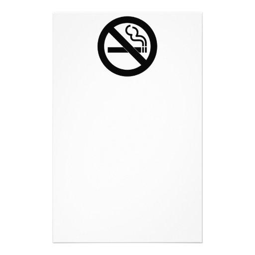 Símbolo de no fumadores papelería de diseño