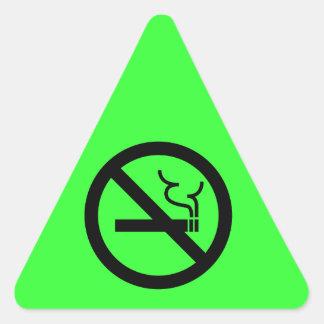 Símbolo de no fumadores pegatinas de trianguladas