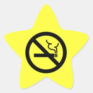 Símbolo de no fumadores colcomania cuadrada