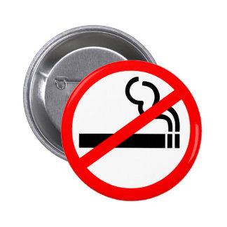 Símbolo de no fumadores pin