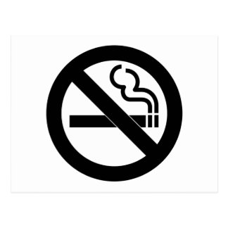 Símbolo de no fumadores postal