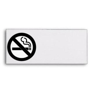Símbolo de no fumadores sobres