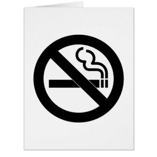 Símbolo de no fumadores tarjeta de felicitación grande