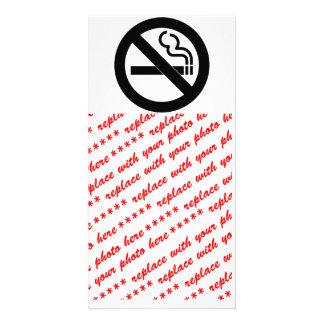 Símbolo de no fumadores tarjeta personal con foto