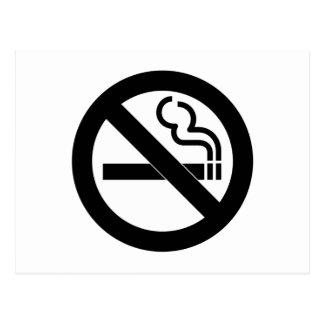 Símbolo de no fumadores tarjeta postal