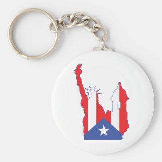 símbolo de Nueva York y del puerto combinado Llavero