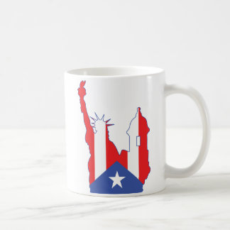 símbolo de Nueva York y del puerto combinado Taza