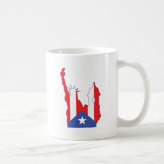 símbolo de Nueva York y del puerto combinado Taza Clásica
