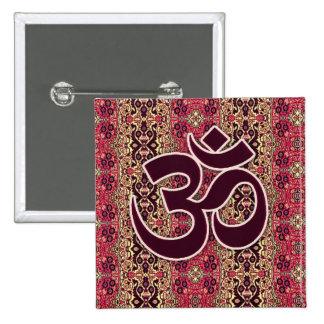 Símbolo de OM con el fondo indio del diseño Pin