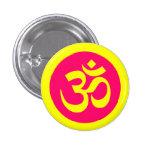 Símbolo de OM en insignia amarilla y rosada Pin