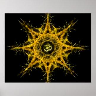 Símbolo de OM en la geometría sagrada - Aum Posters