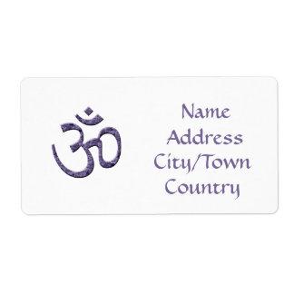 Símbolo de OM/etiqueta de dirección púrpuras Etiqueta De Envío