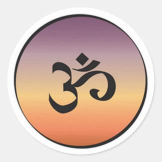 Símbolo de OM Pegatina Redonda