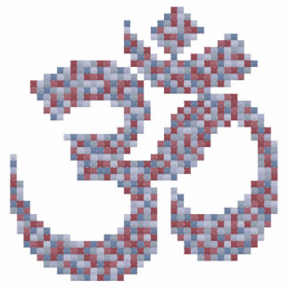 Símbolo de OM Pin Fotoescultura